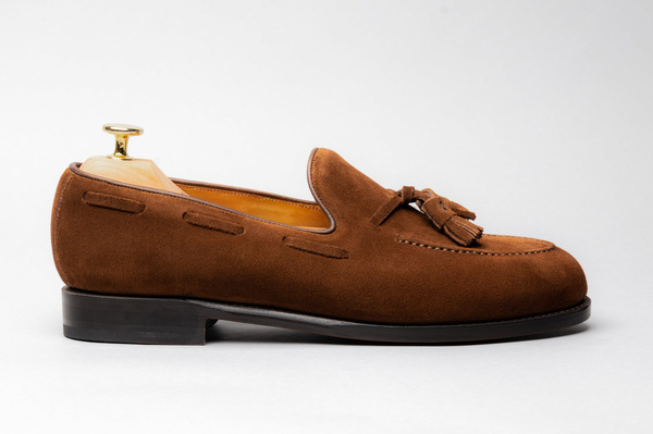 The Tassel Loafer - Medium Brown Suede