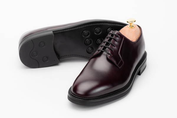 The Plain Toe Blucher - Burgundy Calf