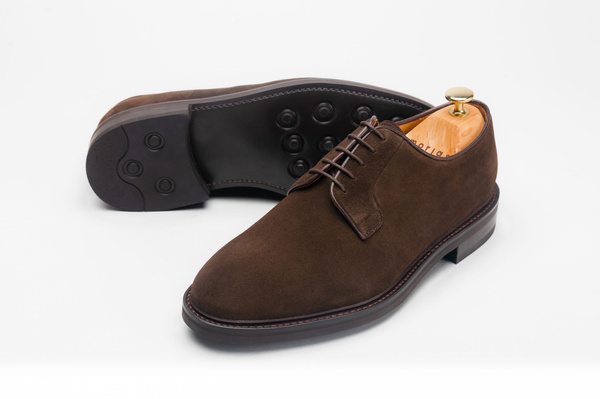 The Plain Toe Blucher - Brown Suede