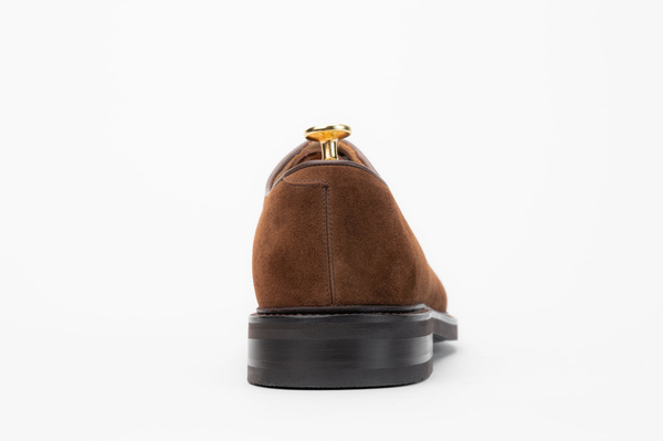 The Plain Toe Blucher - Medium Brown Suede