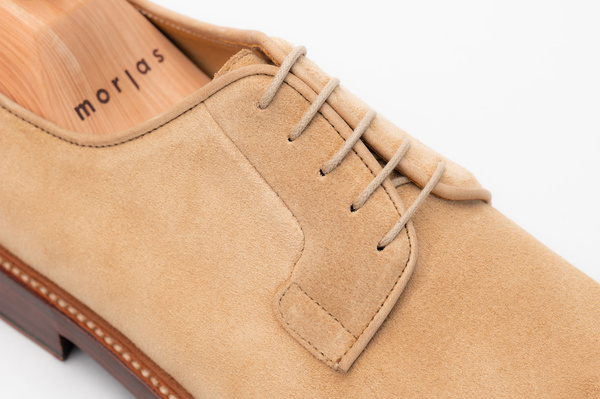 The Plain Toe Blucher - Sand Suede