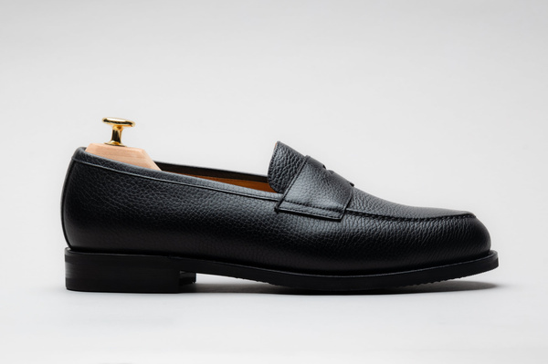 The Penny Loafer - Black Grain