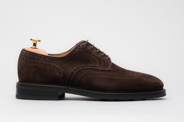 The Derby - Brown Suede