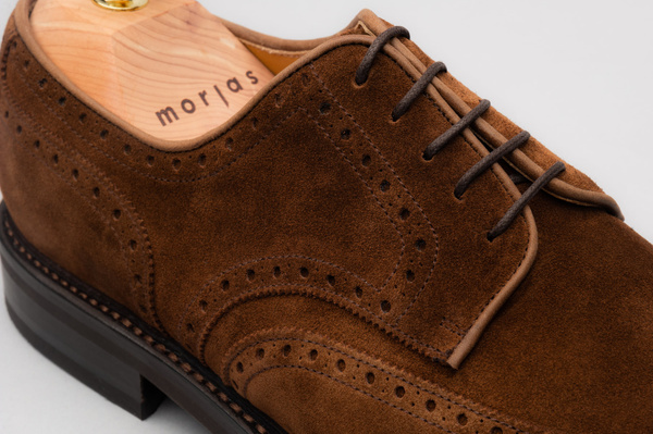 The Derby - Medium Brown Suede