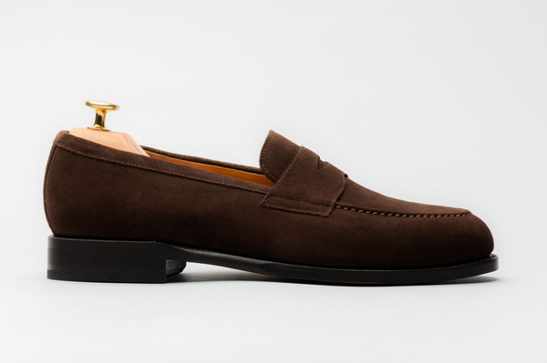 The Penny Loafer - Brown Suede