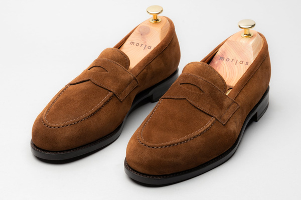 The Penny Loafer - Medium Brown Suede