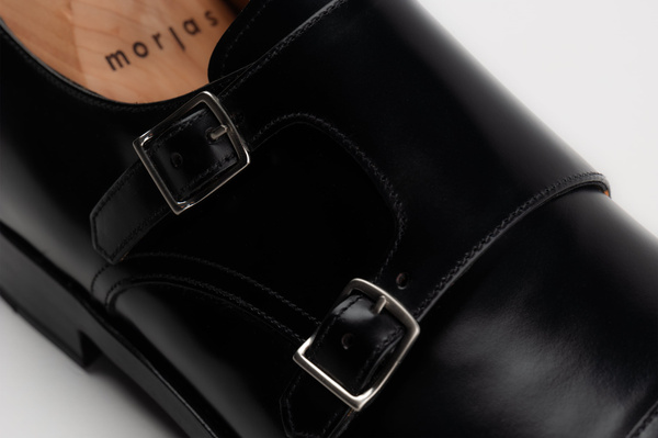 The Double Monkstrap - Black Calf