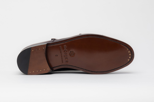 The Double Monkstrap - Burgundy Calf