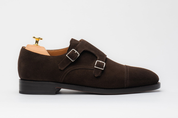 The Double Monkstrap - Brown Suede