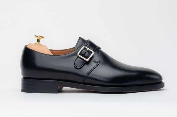 The Single Monkstrap - Black Calf