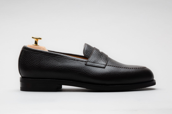 The Penny Loafer - Brown Grain
