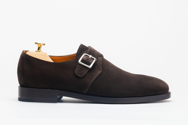 The Single Monkstrap - Brown Suede