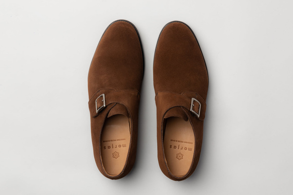 The Single Monkstrap - Medium Brown Suede
