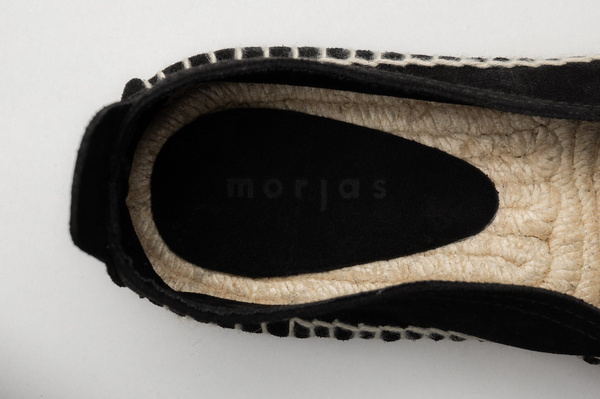 The Espadrille - Black Suede