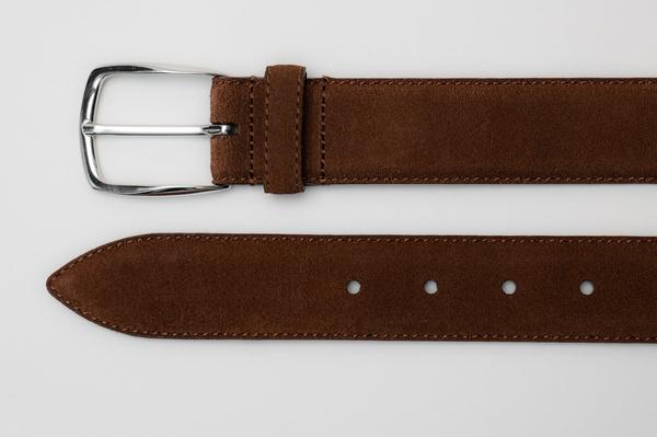 The Belt - Medium Brown Suede