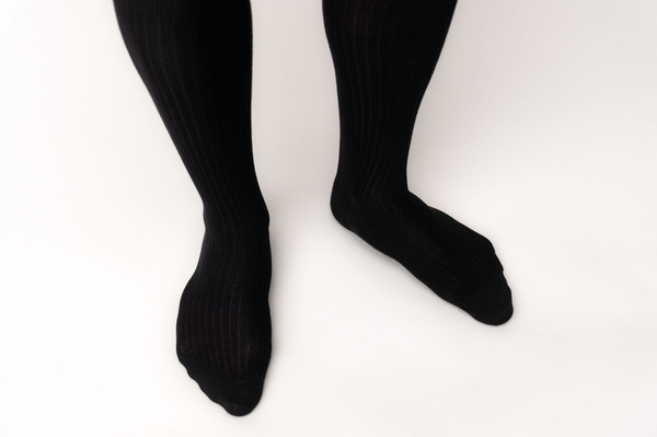 The Sock - Black Ribbed