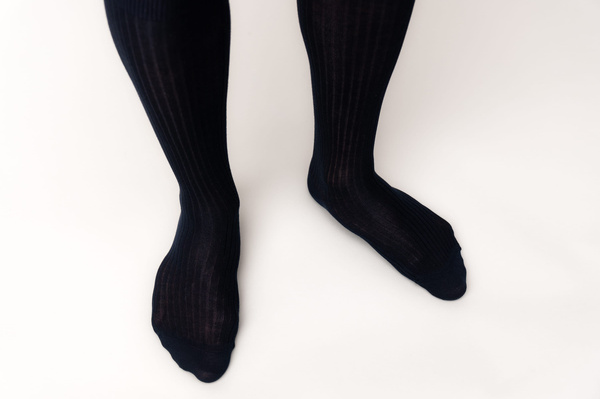 The Sock - Navy Ribbed