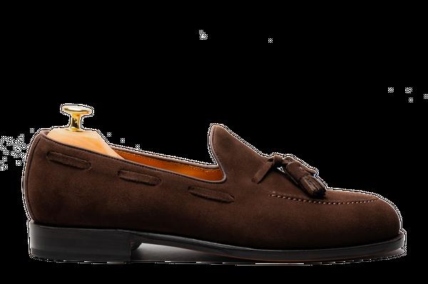 The Tassel Loafer - Brown Suede | Morjas