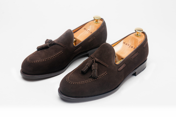 The Tassel Loafer - Brown Suede